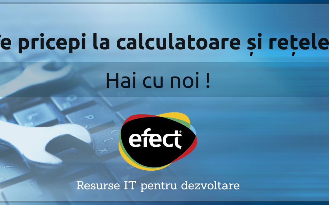 EFECT caută Specialist suport tehnic IT: depuneți CV până în 25.06.2021