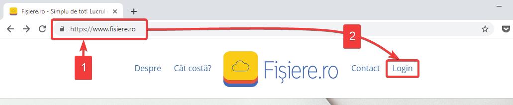 Accesarea aplicației web Fișiere.ro are nevoie doar de un browser (e.g. Chrome, Firefox sau Safari) și conexiune la internet.