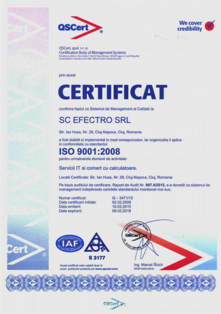 ISO 9001 efect.RO CLuj