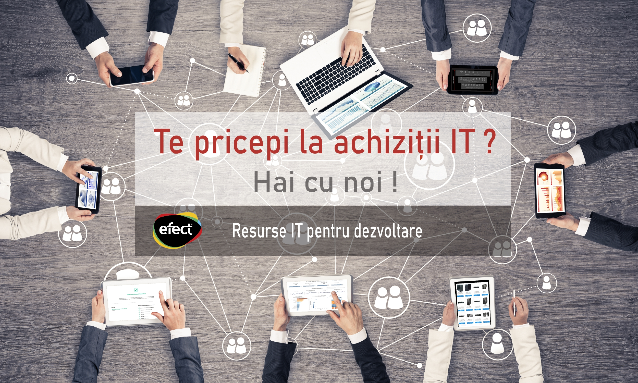 Post disponibil EFECT: Responsabil achiziții IT