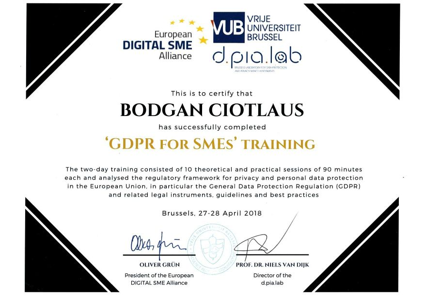 Certificare GDPR for SMEs - efectRO