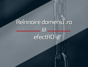 Oferta efectRO de reînnoire domeniu cu extensia .ro