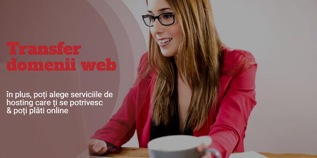 Transfer domenii web pe portalul online efectRO: acces eficient la toate operațiunile tale de hosting.