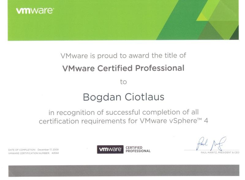 Certificare VMware